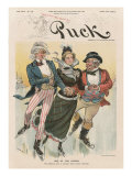 &#39;One of the Causes&#39;, Cover from &#39;Puck Magazine&#39;, Vol. XLIV, No. 1138, Dec. 28th 1898 Reproduction proc&#233;d&#233; gicl&#233;e par Joseph Keppler