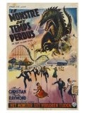 The Beast From 20,000 Fathoms, Belgian Movie Poster, 1953 Art