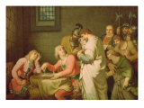 Conradin of Swabia and Friedrich of Baden Awaiting Sentence, 1785 Giclee Print by Johann Heinrich Wilhelm Tischbein