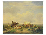 Herdsman and Herd, c.1880 Gicl&#233;e-Druck von Eugene Joseph Verboeckhoven