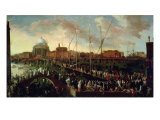 The Redentore Procession Giclee Print by Joseph Heintz