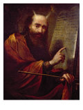 Moses and the Tablets of the Law Giclee Print by Claude Vignon