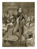 Disraeli's First Speech in the House of Commons, from 'The Illustrated London News', 1901 Giclee Print by Walter Wilson