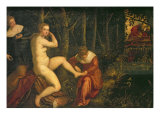 Susanna and the Elders Giclee Print by Domenico Tintoretto