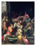 Nativity of John the Baptist Giclee Print by Giovanni Battista Naldini