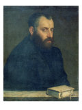 Portrait of a man with a book Giclee Print by Giovanni Battista Moroni