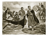 Ethelred the Unready Embarking for Normandy, Illustration 'Hutchinson's Story of British Nation' Giclee Print by Ernest Prater