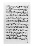 Copy of 'Partita in D Minor for Violin' by Johann Sebastian Bach Giclee Print by Anna Magdalena Bach