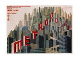 Metropolis, affiche du film en Français, 1926 Reproduction procédé giclée