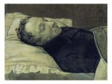 Portrait of Alexander Pushkin on His Deathbed, 1837 Giclee Print by Alexander Alexeyevich Koslov