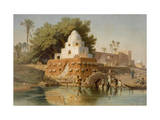Tomb of Sheikh Ababda in Minya, Middle Egypt, 1871 Giclee Print by Carl Friedrich Heinrich Werner