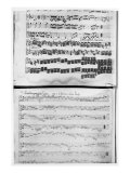 Music Score for Telemann&#39;s Suite for Two Violins, the &#39;Gulliver Suite&#39;, Including the &#39;Chaconne of  Giclee Print