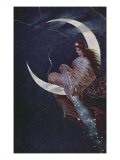 The Fairy of the Moon Giclee Print by Hermann Kaulbach