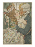 Le Baiser, 1918 Giclee Print by Konstantin Andreevic Somov