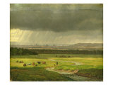 Landscape with Dresden in the Distance, 1830 Giclee Print by Heinrich Stuhlmann
