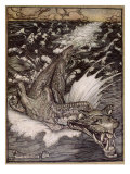 The Leviathan, 1908 Giclee Print by Arthur Rackham