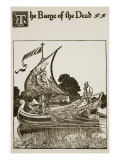 The Barge of the Dead, Illustration from 'The Story of Sir Launcelot and His Companions', 1907 Giclee Print by Howard Pyle