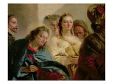 Christ and the Adulteress, 1751 Giclée-tryk af Giandomenico Tiepolo