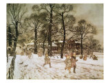 Winter in Kensington Gardens from 'Peter Pan in Kensington Gardens' by J.M. Barrie, 1906 Gicleetryck av Arthur Rackham