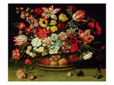 Basket of Flowers Giclee Print by Jacques Linard
