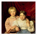 Children, 1834 Giclee Print by Ferdinand Georg Waldmuller