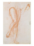 Study of a Pair of Legs and Two Feet for a Figure of St. Michael Giclée-tryk af Jacopo da Carucci Pontormo