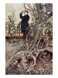 The Kensington Gardens are in London, where the King lives from 'Peter Pan in Kensington Gardens' Giclee Print by Arthur Rackham