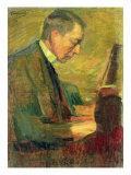 Portrait of Sergei Rakhmaninov, 1916 Giclee Print by Leonid Osipovic Pasternak
