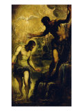 The Baptism of Christ Gicle-tryk af Jacopo Robusti Tintoretto