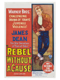 Rebel Without a Cause, Australian Movie Poster, 1955 Giclee Print