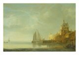 Outside Rotterdam Giclee Print by Simon Jacobsz Vlieger