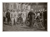 The Inspection of Colonial Soldiers at Windsor Castle by Queen Victoria, 16th November, 1900 Giclee Print by Richard Caton Woodville