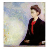 Portrait of Baroness Robert de Domecy, 1900 Giclee Print by Odilon Redon