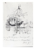 Surgeon's Carriage at St. Bartholomews Hospital, London, 1833 Giclee Print by George The Elder Scharf