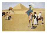 Posing at the Pyramids, from 'The Light Side of Egypt', 1908 Giclee Print by Lance Thackeray
