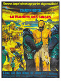 Planet of the Apes, French Movie Poster, 1968 Lmina gicle