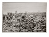 Sleepless Mafeking - Hot Work in the Trenches Giclee Print by Richard Caton Woodville