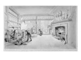 The Kitchen of Mr. Sander's Coffee and Eating House, Newgate Street, 1828 Giclee Print by George The Elder Scharf
