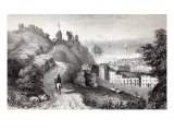 Hastings Castle from the Revd W. Wallinger's Plantation, engraved by R. Martin Giclee Print by Thomas Ross