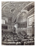 The French Chamber of Peers, from The Illustrated London News, 1st February 1845 Giclee Print by Edouard Renard
