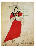 May Belfort, France, 1895 Giclee Print by Henri de Toulouse-Lautrec