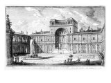 The Belvedere Court in the Vatican Rome Lámina giclée por George Vertue