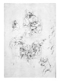 Studies for a Madonna with a cat, c.1478-80 Giclee Print by Leonardo da Vinci