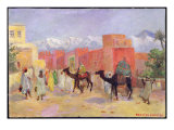 A Village in the Atlas Mountains Giclee Print by Lucie Ranvier-Chartier