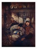 A Marken Interior, 1904 Giclee Print by Nico Jungman
