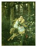 Ivan Tsarevich Riding the Grey Wolf, 1889 Giclée-Druck von Victor Mikhailovich Vasnetsov