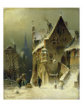 A Small Town in the Rhine Giclee Print by August Schlieker