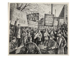 Workers Demonstration in Petrograd, April 1917 Giclee Print by N. Pavlov