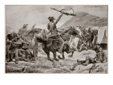 Charge of the Bushmen and New Zealanders on the Boer Guns, Near Klerksdorp, 24th March 1901 Giclee Print by Richard Caton Woodville