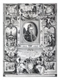 Pope Clement VIII, Surrounded by Scenes from His Life Giclée-Druck von Francesco Villamena